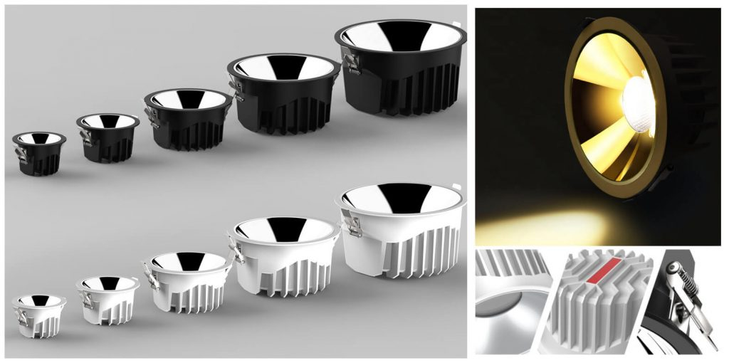 Jaga led downlight detailed pictures